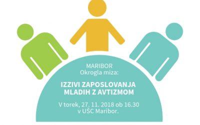 MARIBOR_Vabljeni na okroglo mizo: »Izzivi zaposlovanja mladih z avtizmom«
